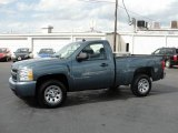 2008 Blue Granite Metallic Chevrolet Silverado 1500 Work Truck Regular Cab #25415166