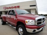 2007 Inferno Red Crystal Pearl Dodge Ram 3500 SLT Quad Cab 4x4 Dually #25415192