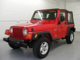 2006 Flame Red Jeep Wrangler X 4x4 #25415200