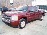2008 Deep Ruby Metallic Chevrolet Silverado 1500 LT Extended Cab 4x4 #25464173