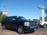 2008 Dark Blue Metallic Chevrolet Silverado 1500 LS Crew Cab #2535809