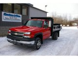 2005 Victory Red Chevrolet Silverado 3500 Regular Cab 4x4 Chassis #25464376