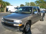 2000 Light Pewter Metallic Chevrolet Silverado 1500 LT Extended Cab #25464239
