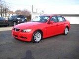 2007 Crimson Red BMW 3 Series 328i Sedan #25464248