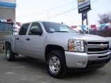 2010 Sheer Silver Metallic Chevrolet Silverado 1500 LT Crew Cab 4x4 #25500849