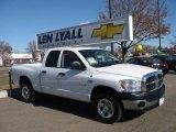 2008 Bright White Dodge Ram 1500 SLT Quad Cab 4x4 #25500926