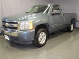 2008 Blue Granite Metallic Chevrolet Silverado 1500 LT Regular Cab 4x4 #25501077