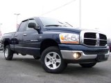 2006 Patriot Blue Pearl Dodge Ram 1500 SLT Quad Cab 4x4 #25537624