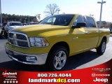 2009 Detonator Yellow Dodge Ram 1500 Big Horn Edition Crew Cab #25537769