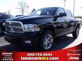 2010 Brilliant Black Crystal Pearl Dodge Ram 1500 SLT Crew Cab #25537777