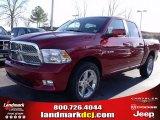 2010 Inferno Red Crystal Pearl Dodge Ram 1500 SLT Crew Cab #25537778