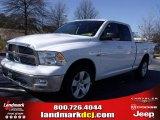 2010 Stone White Dodge Ram 1500 Big Horn Quad Cab #25537782