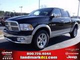 2010 Brilliant Black Crystal Pearl Dodge Ram 1500 Laramie Crew Cab 4x4 #25537783