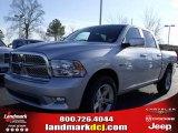 2010 Bright Silver Metallic Dodge Ram 1500 SLT Crew Cab #25537784