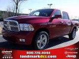2010 Inferno Red Crystal Pearl Dodge Ram 1500 SLT Crew Cab #25537787