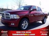 2010 Inferno Red Crystal Pearl Dodge Ram 1500 SLT Crew Cab #25537788