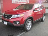 2011 Spicy Red Kia Sorento EX #25537946