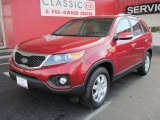 2011 Spicy Red Kia Sorento LX #25537949