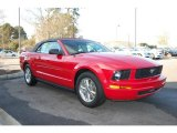 2007 Torch Red Ford Mustang V6 Deluxe Convertible #25537988