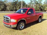 2005 Flame Red Dodge Ram 1500 SLT Regular Cab #25581270