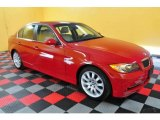 2007 Crimson Red BMW 3 Series 335i Sedan #25581126
