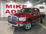 2008 Inferno Red Crystal Pearl Dodge Ram 1500 Big Horn Edition Quad Cab #25580994