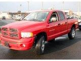 2005 Flame Red Dodge Ram 1500 SLT Quad Cab 4x4 #25580710