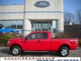 2010 Vermillion Red Ford F150 XLT SuperCab 4x4 #25580776