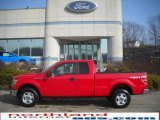 2010 Vermillion Red Ford F150 XLT SuperCab 4x4 #25580777
