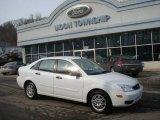 2005 Cloud 9 White Ford Focus ZX4 SE Sedan #25580958