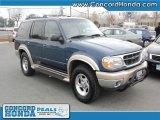 2000 Medium Wedgewood Blue Metallic Ford Explorer Eddie Bauer 4x4 #25631726
