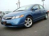 2007 Atomic Blue Metallic Honda Civic EX Sedan #25631906