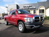 2008 Inferno Red Crystal Pearl Dodge Ram 1500 SXT Quad Cab #25632084