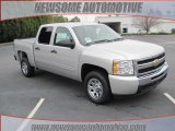 2010 Sheer Silver Metallic Chevrolet Silverado 1500 LS Crew Cab #25632254