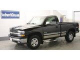 2002 Onyx Black Chevrolet Silverado 1500 LS Regular Cab 4x4 #25632142