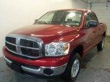 2007 Inferno Red Crystal Pearl Dodge Ram 1500 SLT Quad Cab 4x4 #25675941