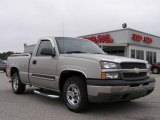 2004 Silver Birch Metallic Chevrolet Silverado 1500 Regular Cab #25675988