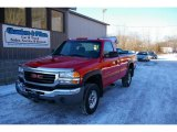 2006 Fire Red GMC Sierra 2500HD Work Truck Regular Cab 4x4 #25676003