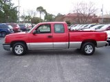 2004 Victory Red Chevrolet Silverado 1500 LS Extended Cab #25676034