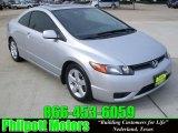 2007 Alabaster Silver Metallic Honda Civic EX Coupe #25698406