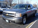 2008 Graystone Metallic Chevrolet Silverado 1500 Work Truck Extended Cab #25709714