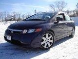 2007 Royal Blue Pearl Honda Civic LX Sedan #2556629