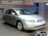 2007 Alabaster Silver Metallic Honda Civic LX Sedan #25752343