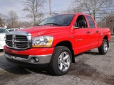 2006 Flame Red Dodge Ram 1500 SLT Quad Cab 4x4 #25752512