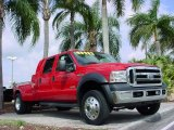 2007 Red Ford F550 Super Duty Lariat Crew Cab Dually #25752089