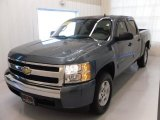 2008 Blue Granite Metallic Chevrolet Silverado 1500 LS Crew Cab #25752403