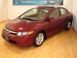 2007 Tango Red Pearl Honda Civic EX Sedan #25752558