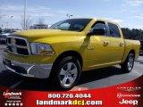 2009 Detonator Yellow Dodge Ram 1500 SLT Crew Cab #25752132