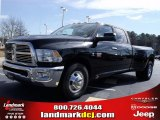 2010 Brilliant Black Crystal Pearl Dodge Ram 3500 SLT Crew Cab Dually #25752154