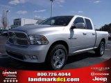 2010 Bright Silver Metallic Dodge Ram 1500 Sport Quad Cab #25752155